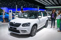 Skoda yeti world premiere frankfurt international motor show iaa Royalty Free Stock Image