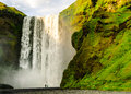 Skogafoss iceland waterfall near ringstreet Royalty Free Stock Photo