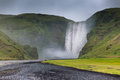 Skogafoss Waterfall, Iceland Royalty Free Stock Photos