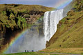 Skogafoss Waterfall Royalty Free Stock Photo