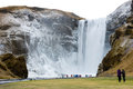The skogafoss waterfall in iceland in the winter Royalty Free Stock Photo