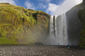 Skogafoss waterfall south coast iceland Stock Images