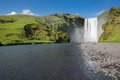 Skogafoss waterfall on the south of iceland near the town skogar Royalty Free Stock Image