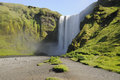 Skogafoss waterfall summer view of in iceland Stock Photo