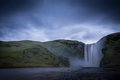 Skogafoss waterfalls view in iceland Royalty Free Stock Photo