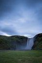 Skogafoss waterfalls view in iceland Royalty Free Stock Photography