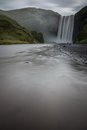 Skogafoss waterfalls view in iceland Stock Photo