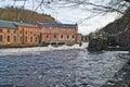 Skonningsfoss power plants Royalty Free Stock Photo