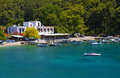 Skopelos island in greece agnontas bay at Royalty Free Stock Images