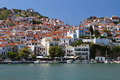Skopelos island in greece view of the old port Stock Image
