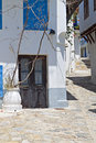 Skopelos island in greece view of streets and traditional architecture Royalty Free Stock Photography