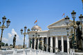 Skopje macedonia jun monuments and buildings from project Royalty Free Stock Photo