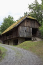 Skorjanzstadel in open air museum maria saal aus the is a stable barn set up the austrian carinthia the basement is made of Stock Photo