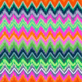 Skribble zigzag colorful aztec seamless pattern Royalty Free Stock Image
