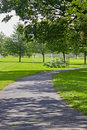 Skuggig lanepark Royaltyfria Bilder