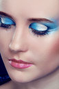 Skuggor för ögon Makeup.Make-up.Eyes. Arkivbilder