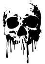 Skull blood2 Royalty Free Stock Photo