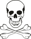Skull and bones Stock Photography