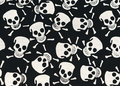 Skull and Bones. Gothic design, scenery for Halloween Royalty Free Stock Photo
