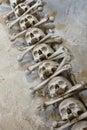 Skull bones human and at the bone chapel in kutna hora near prague czech republic Stock Photos