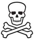 Skull and bones pirate symbol Royalty Free Stock Image