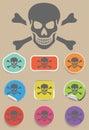 Skull and bones warning sign - vector Royalty Free Stock Photo