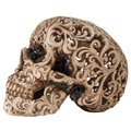 Skull with carved pattern isolated on white background Royalty Free Stock Photo