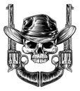 Skull Cowboy Hat and Guns