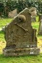 Skull and Cross Bones Tomb Stone Royalty Free Stock Photo