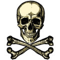 A skull and crossbones on a blank background Royalty Free Stock Photo