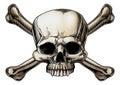 Skull and crossbones drawing Royalty Free Stock Photo