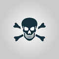 Skull and crossbones icon isolated Royalty Free Stock Photo
