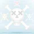 Skull and crossbones icon style in different color colors vector illustration cs eps may contain transparency Stock Photos