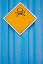 Skull and crossbones warning sign Royalty Free Stock Photo