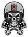 Skull and crossed pison vector of Royalty Free Stock Images