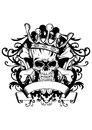 Skull with crown vector illustration Royalty Free Stock Photos