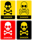 Skull - danger sign Royalty Free Stock Image