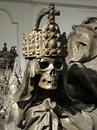 Skull of an Emperor in Vienna Imperial Crypt Royalty Free Stock Photo