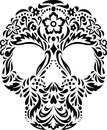 Skull with floral pattern Royalty Free Stock Photos