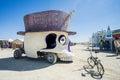 Skull with Hat Art Car at Burning Man 2015 Royalty Free Stock Photo