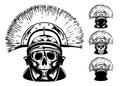 Skull in helmet Royalty Free Stock Images