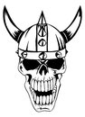 Skull in helmet Vikings Royalty Free Stock Photos