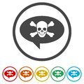 Skull icon, 6 Colors Included