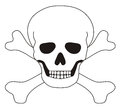 Skull icon on white background Royalty Free Stock Photography