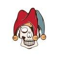 Skull in jester cap vector design Royalty Free Stock Photo