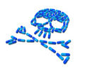 Skull made of capsule pills Royalty Free Stock Photo