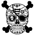 Skull Mexican pirate