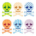 Skull patterns set vector illustration of Stock Photography