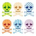 Skull patterns set Royalty Free Stock Photo