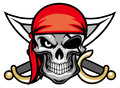 Skull pirate head Royalty Free Stock Photo